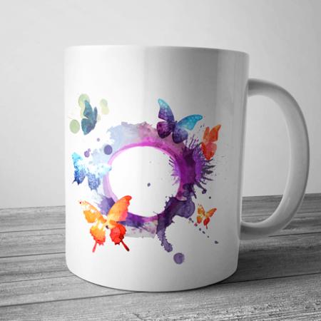 taza mariposas