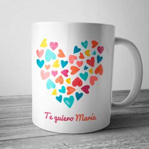 taza te quiero personalizada