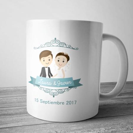 taza para regalo de boda