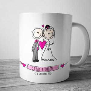 Taza boda amor