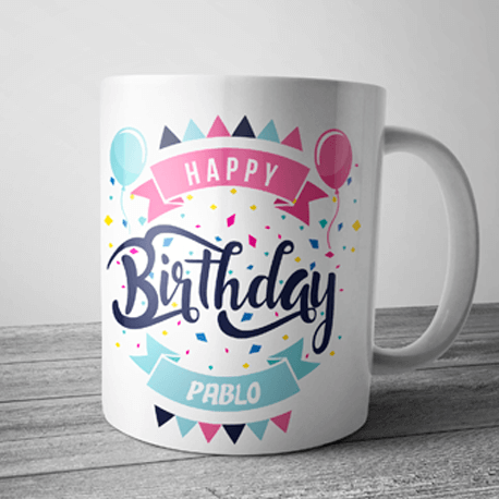 taza personalizada cumpleaños