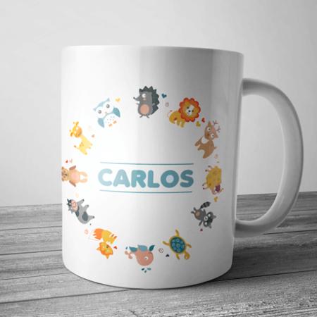 taza de animales con nombre