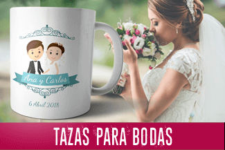 tazas para bodas personalizadas