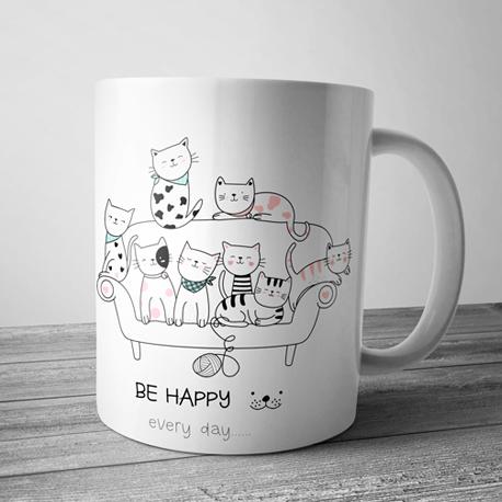 taza de gatitos