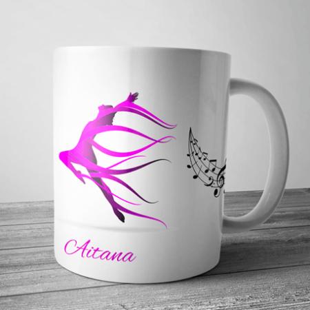 taza personalizada con nombre para bailarinas